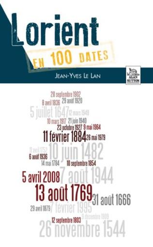 Couverture Lorient en 100 dates