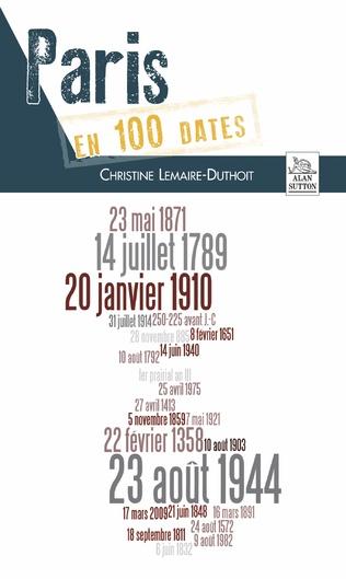 Couverture Paris en 100 dates