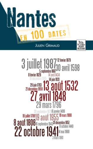 Couverture Nantes en 100 dates