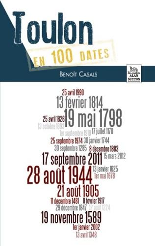 Couverture Toulon en 100 dates