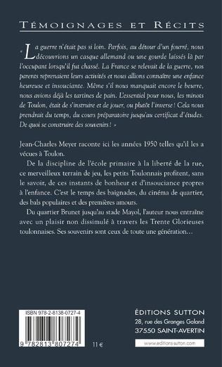 4eme Années 1950 - Grandir à Toulon