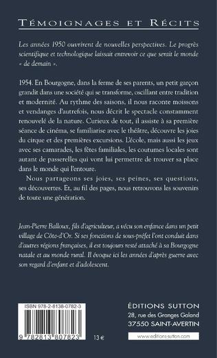 4eme Années 1950 - Grandir en Bourgogne
